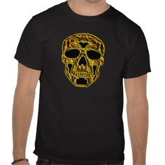 Sold! 3X 3D Gold Skull Tee Shirts