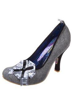 TAPE TASTIC - Avokkaat - harmaa Irregular Choice, Tape, Kitten Heels, Grey, Accessories, Shoes, Black, Clothes, Fashion