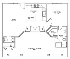 First Floor Plan of Cottage   Craftsman   House Plan 59321