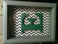 I just DIY'd!! Shadow boxes + acrylic paint  + painted cardboard letters set on a great design = 3 letter wall art pieces for less than $20