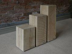 wooden display plinths - Google Search