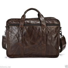 Satchel Bag Men's Genuine Italian Leather Large Briefcase #italianleather #serbags #Blackfriday #Christmasgift