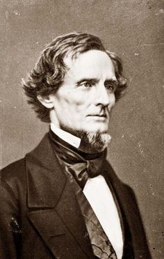 Jefferson Davis, leader of the Confederacy during the American Civil War.