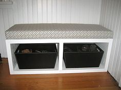 Love the bench seat for our bedroom but make it big enough to put laundry baskets underneath
