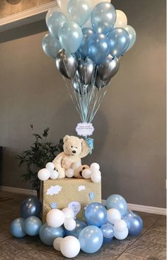 Cadeau Baby Shower, Idee Baby Shower, Cute Baby Shower Ideas, Baby Shower Decorations For Boys, Boy Baby Shower Themes, Baby Shower Balloons, Baby Shower Parties, Baby Decor, Baby Shower For Boys