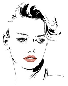 vector portraits in adobe Illustrator -
