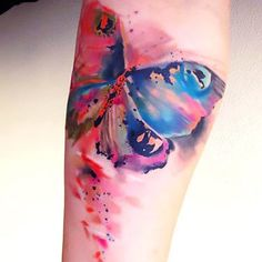 Gorgeous Watercolor Butterfly Tattoo Idea