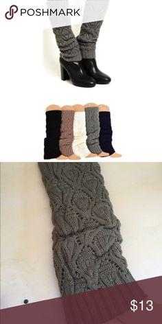 TAUPE LEG WARMERS New in package. Leg warmers! Wear w leggings, jeans, skirts.  Taupe Accessories Hosiery & Socks