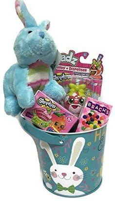 Shopkins Easter Basket Pail Rare EXCLUSIVE BASKET Easter Eggs GIRLS FUN Surprise #Shopkins