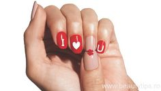 "avoninsider: "" Beauty School: Valentine's Day Nail Art Polish nails with Avon's Nailwear Pro+ and let them dry completely. Using the new Avon Nail Art Enamel, fill. Nail Swag, Nail Art Saint-valentin, Heart Nail Art, Nail Arts, Valentine's Day Nail Designs, Simple Nail Art Designs, Nail Art Coeur, Cute Nails, Pretty Nails"
