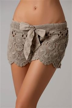 Lacey crochet shorts to wear over your bathing suit, from Everything But Water