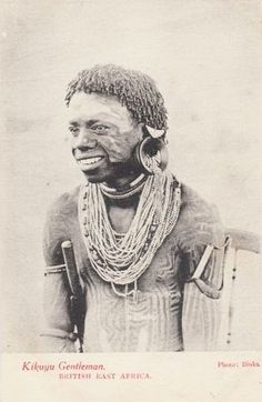 Kikuyu Tattoed Gentleman 1910s