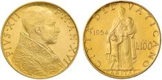NumisBids: Nomisma Spa Auction 50, Lot 323 : Pio XII (1939-1958) 100 Lire 1954 A. XVI – AU RR...