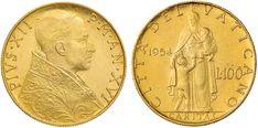 NumisBids: Nomisma Spa Auction 50, Lot 323 : Pio XII (1939-1958) 100 Lire 1954 A. XVI – AU RR...