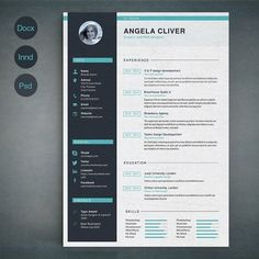 Resume Template A by sz81 on @creativemarket