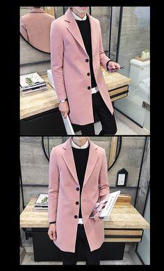 Minimalist Men's Wool Coat