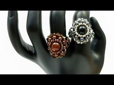 TheHeartBeading: Flower Ring - YouTube