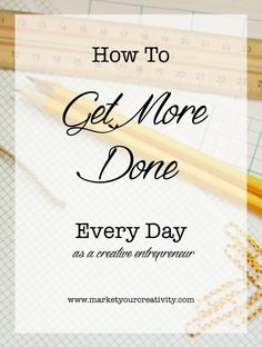 The 80-20 rule applies to creative business, how to strengthen your focus muscle and get more done every day.