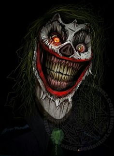 Scary Psychotic Clown - The Joker is extremely, dangerously, and sadistically psychotic crazy. Clown Cirque, Gruseliger Clown, Joker Clown, Clown Faces, Creepy Clown, Joker Images, Joker Pics, Joker Art, Batman Joker Wallpaper