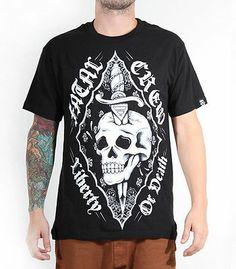 FATAL CLOTHING  CALI FEATHERS  T SHIRT TATTOO PUNK GOTH