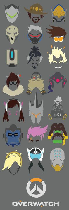 Overwatch - All Heroes Icons by Flamehero6106