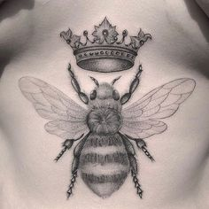 ✔ Cute Tattoos For Women Queen Bees Bumble Bee Tattoo, Honey Bee Tattoo, Unique Tattoos, Beautiful Tattoos, Small Tattoos, Cool Tattoos, Colorful Tattoos, Beyonce Tattoo, Black Tattoos