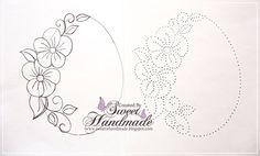 • Sweet Handmade •: Broderie pe Hartie. Marco ovalado, con flores