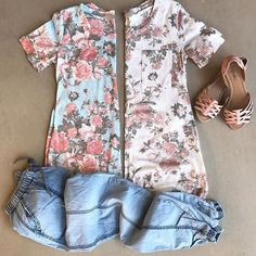 Our Floral Tee is now available in Ivory and I can't decide which one I love more!! #linkinbio oliveandrust.com