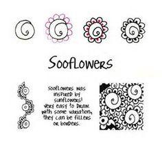 Zentangle Pattern - Flowers