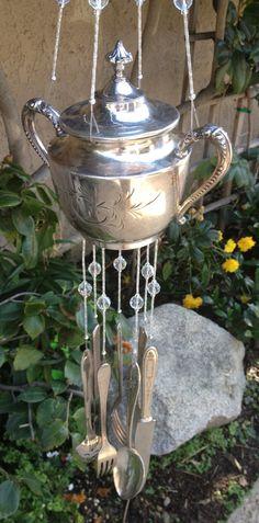 Vintage Silver - Wind Chime. $65.00, via Etsy.