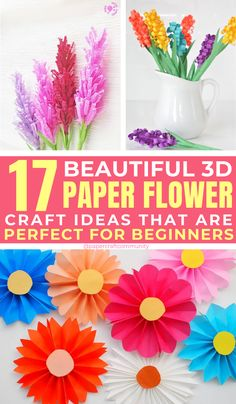 Easy Paper Flower Craft Ideas To Make At Home, to to maker paper flowers tutorial Paper flowers can be a fun craft and beautiful decor all at once. Prepare your paper craft skills for some easy DIY ideas you can make at home. Crafts To Sell, Easy Crafts, Diy And Crafts, Easy Diy, Crafts For Kids, Sell Diy, Kids Diy, Decor Crafts, Nature Crafts