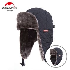 9e14feb1cb0 Naturehike Outdoor Windproof Winter Thermal Skiing Hats Lei Feng Hiking Russian  Caps With Masks Bomber For Women Men