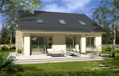 Modern Bungalow, Concept Home, Pool Houses, Modern House Design, Home Fashion, My House, Architecture Design, House Plans, Cottage