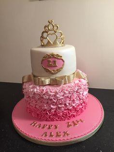 Ruffles 21st cake  by Donnajanecakes