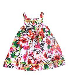White Floral Loralie Dress - Toddler & Girls