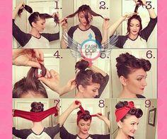 Si te gusta el estilo Pin-up este peinado te encantara, este practico tip te sera útil también en estos tiempos de calor, recuerda que jamas debemos perder el estilo... #DondeNacenLosEstilos www.fashoop.com