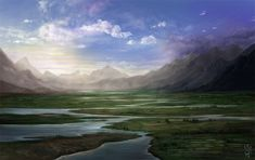 The transition lands between glastenen and Masego. Landscape by NImportant.deviantart.com on @DeviantArt