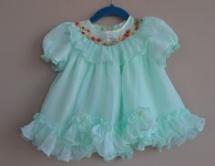 A personal favorite from my Etsy shop https://www.etsy.com/ca/listing/270554819/vintage-frilly-miss-lilly-mint-baby
