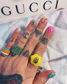 Edgy Nails, Funky Nails, Trendy Nails, Swag Nails, Cute Nails, Hippie Nails, Art Deco Nails, Mens Nails, Crazy Nail Designs