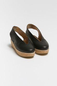 June Wedges, black