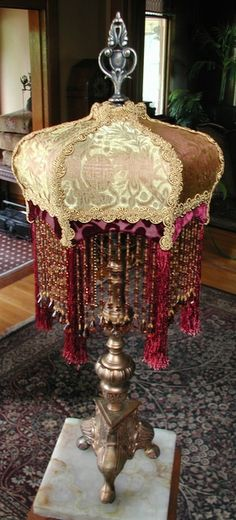 Victorian Table Lamp and Shade