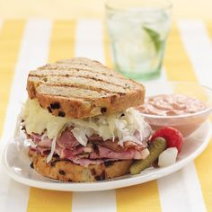 The Reuben sandwich and the Rosen family date back to when Alan's Grandpa Harry and his brother Mike ran the Enduro Sandwich Shoppes in the late 1920s in Manhattan. That began a long Rosen history of serving some of the best Reubens in New York—but not always with corned beef! Today you can walk into Junior's and still order the Original Reuben, made only with corned beef. But now you also have the option of a Turkey Reuben with melted Swiss and coleslaw, a Pastrami Reuben, and this o...