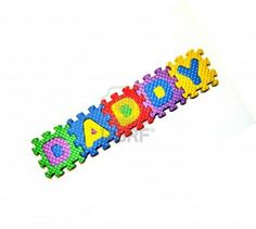Daddy - Word Blocks
