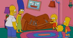 Watch 554 'Simpsons' Couch Gags at the Same Time. Listen to the beautiful and hellish sounds of 'The Simpsons' trying to sit on a couch for 25 years.