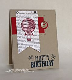 Masculine Birthday Card with You're Amazing Stamp Set