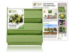 Mur végétal BRIQUE VERTE vert sans plante