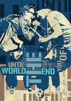 Rock Music  Poster fine  art print  U2 rock band  by Artistico, $28.00