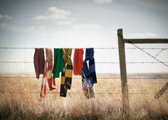 Air dry your fashion.  But watch out for tearing your clothes on the barbed wire.