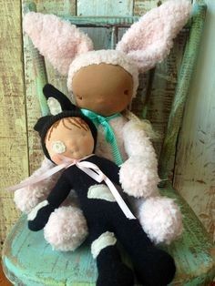 For a limited time when You purchase Peony Bunny you will also receive her little wool stuffed bunny friend for FREE!!   https://www.etsy.com/listing/185343991/waldorf-inspired-4-way-jointed-bunny