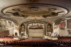This theatre, Loew's Palace, in Bridgeport, Connecticut, closed in 1975, just over 50 years after it opened in 1922